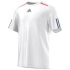 Adidas Men's Barricade Tee (White/Tech Ink/Flash Red) - Tennis Apparel