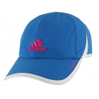 Adidas Women's Adizero II Cap (Blue/ White/ Pink) - Tennis Accessories