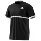 Adidas Men's Court Tee (Black/White) - Tennis Apparel