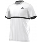 Adidas Men's Court Tee (White/Black) - Tennis Apparel