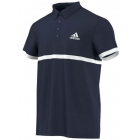 Adidas Men's Court Polo (Navy/White) - Tennis Apparel