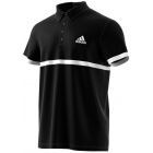 Adidas Men's Court Polo (Black/White) - Men's Polo Shirts