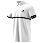 Adidas Men's Court Polo (White/Black) - Men's Polo Shirts