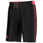 Adidas Men's Barricade Short Bermuda (Black/Flash Red) - Adidas Men's Apparel