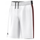Adidas Boys' Barricade Short Bermuda (White/Black) - Boy's Bottoms