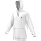 Adidas Men's Fleece Hoodie (White) - Adidas Men's Tennis Apparel
