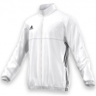 Adidas Men's T16 Team Jacket (White/Black) - Adidas Men's Tennis Jackets, Pants and Sweats