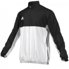 Adidas Men's T16 Team Jacket (Black/White) - Adidas Men's Tennis Jackets, Pants and Sweats