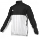 Adidas Men's T16 Team Jacket (Black/White) - Men's Outerwear