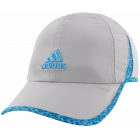 Adidas Women's Adizero II Cap (Clear Onix/Bright Cyan/Dappled Print) - Tennis Hats