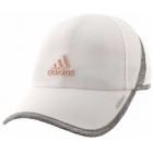 Adidas Women's Adizero II Cap (White/Heathered Grey/Vapour Pink) - Tennis Hats