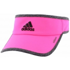 Adidas Women's Adizero II Visor (Shock Pink/Dark Grey Heather/Black) - Tennis Hats