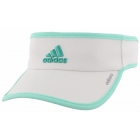 Adidas Women's Adizero II Visor (White/Easy Green/Shock Mint) - Tennis Hats