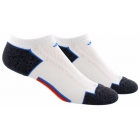 Adidas Men's ClimaCool II 2-Pack No Show, Large (White/Blue/Orange/Onix) - Tennis Apparel
