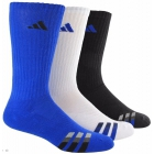 Adidas Men's Cushioned Color 3-Pack Crew, Large (Blue/White/Black) - Adidas Tennis Socks