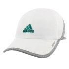 Adidas Women's Adizero II Cap (White/ Grey/ Green) - Adidas Caps & Visors Tennis Apparel