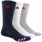 Adidas Men's Cushioned Color 3-Pack Crew, Large (Navy/White/Grey) - Adidas Apparel