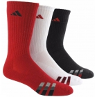 Adidas Men's Cushioned Color 3-Pack Crew, Large (Red/White/Black) - Adidas Apparel