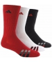 Adidas Men's Cushioned Color 3-Pack Crew, Large (Red/White/Black) - Adidas Tennis Socks