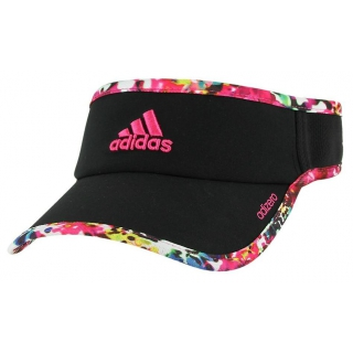 Adidas Women s Adizero II Visor (Black Floral  Pink) - Do It Tennis 28ed9389d29