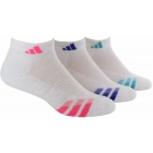 Adidas Women's Cushioned Variegated 3-Pack Quarter (White/Pink/Purple/Mint) - Adidas Apparel