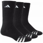 Adidas Men's Cushioned 3-Pack Crew, Large (Black/White) - Tennis Apparel Brands