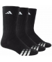 Adidas Men's Cushioned 3-Pack Crew, Large (Black/White) - Adidas Tennis Socks