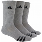 Adidas Men's Cushioned 3-Pack Crew, Large (Grey/Black) - Tennis Apparel Brands
