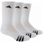 Adidas Men's Cushioned 3-Pack Crew, Large (White/Black) - Tennis Apparel Brands