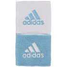 Adidas Interval Reversible Tennis Wristband (Light Blue/ White) -