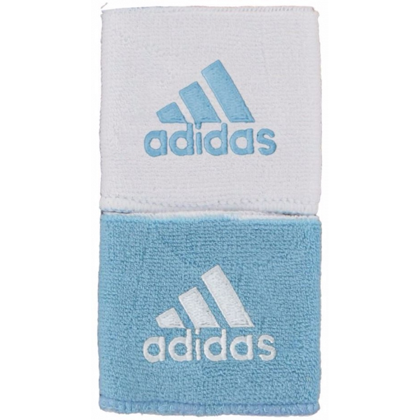 Adidas Interval Reversible Tennis Wristband (Light Blue/ White)