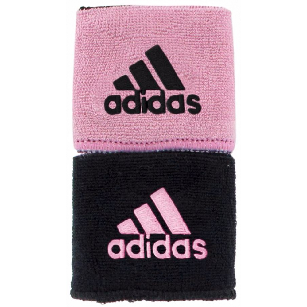 Adidas Interval Reversible Tennis Wristband (Black/Light Pink)