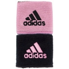 Adidas Interval Reversible Tennis Wristband (Black/Light Pink) -