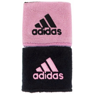 Adidas Interval Reversible Tennis Wristband (Black/Light Pink)