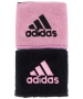 Adidas Interval Reversible Tennis Wristband (Black/Light Pink) - Adidas Sports Headbands and Wristbands