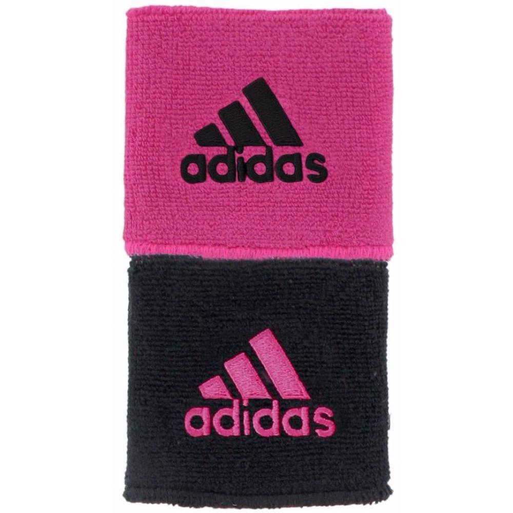 Adidas Interval Reversible Tennis Wristband (Black/Intense Pink)