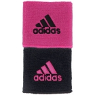 Adidas Interval Reversible Tennis Wristband (Black/Intense Pink) - Adidas Apparel