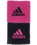 Adidas Interval Reversible Tennis Wristband (Black/Intense Pink) - Adidas Sports Headbands and Wristbands