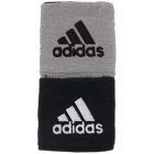 Adidas Interval Reversible Tennis Wristband (Black/White/Silver) - Adidas Apparel