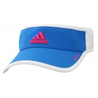 Adidas Women's Adizero II Visor (Blue/ White/ Pink) - Tennis Accessories