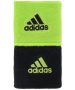 Adidas Interval Reversible Tennis Wristbands (Black/Lime) - Adidas Sports Headbands and Wristbands