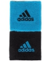 Adidas Interval Reversible Tennis Wristbands (Black/Blue) - Adidas Sports Headbands and Wristbands