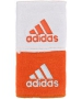 Adidas Interval Reversible Tennis Wristband (Orange/White) - Adidas Headbands & Wristbands