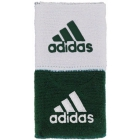 Adidas Interval Reversible Tennis Wristband (Forest/White) - Headbands & Writsbands