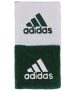 Adidas Interval Reversible Tennis Wristband (Forest/White) - Adidas Sports Headbands and Wristbands