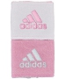 Adidas Interval Reversible Tennis Wristband (Light Pink/White) - Adidas Sports Headbands and Wristbands