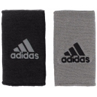 Adidas Interval Large Reversible Tennis Wristbands (Grey/Black) - Headbands & Writsbands