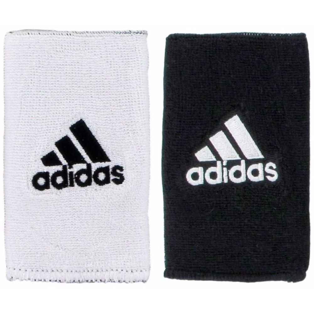 Adidas Interval Large Reversible Tennis Wristbands (Black/White)
