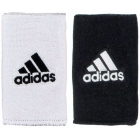 Adidas Interval Large Reversible Tennis Wristbands (Black/White) - Headbands & Writsbands