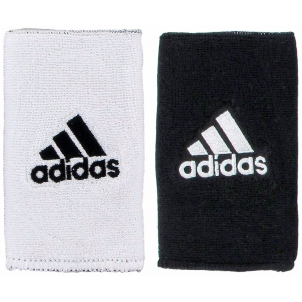 Adidas Interval Large Reversible Tennis Wristbands (Black/White)